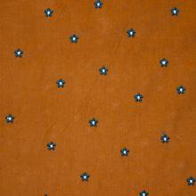 Bruine Ribfluweel met Bloemetjes