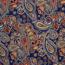 Blauwe Viscose met Organisch patroon