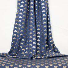 Blauwe Tricot met Gouden Regenbogen