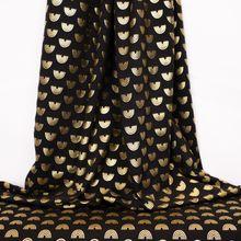 Zwarte Tricot met Gouden Regenbogen