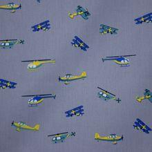 Grijze Katoen met Helikopters