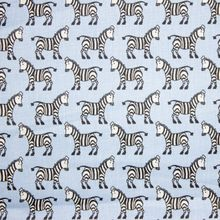 Blauwe Katoen met Zebra's
