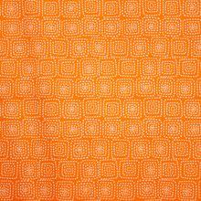 Oranje Katoen met Wit Motief