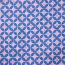 Paarse Katoen met Blauw Patroon