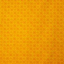 Gele Katoen met Oranje Motief