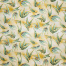 Gele Katoen met Bladeren