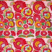 Roze Katoen met Kleurrijk Patroon
