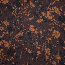 Bruine Polyester Stretch met Patroon