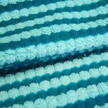 Gestreepte Breistof Stretch Turquoise-Blauw