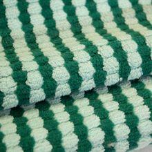 Gestreepte Breistof Stretch Groen-Licht Groen
