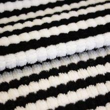 Gestreepte Breistof Stretch Zwart- Wit