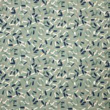 Organische Katoen Tricot Painted Stripe Dusty Mint