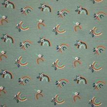 Katoen Tricot Rainbow Dusty Green