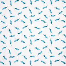 Witte Tricot met Blauwe Veren