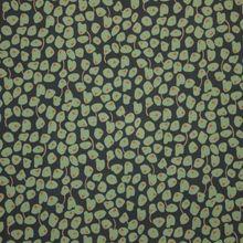 Groene Viscose met Abstract Bloem Motief