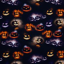 Zwarte Tricot met Halloween Pompoenen