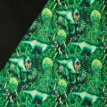 Groene softshell met dino's