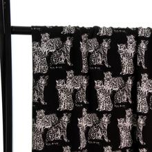 Zwarte Viscose met Tijgers van Atelier Jupe