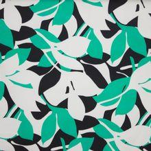 Piqué groen bladeren motief
