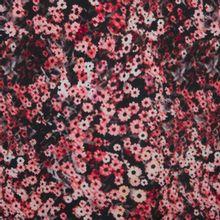 crêpe tricot met bloemmotief