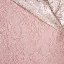 Jacquard double face roze zilver