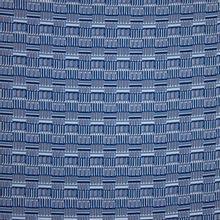 Polyester blauw geometrisch motief