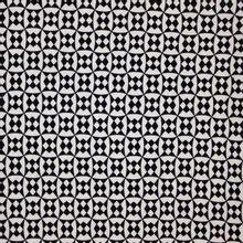 Structuurtricot wit zwart geometrisch motief