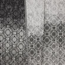 Jacquard tricot zwart wit degradé bloemen paneel