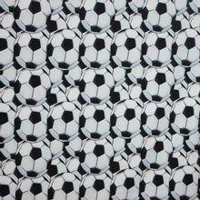 Katoen tricot voetbalmotief