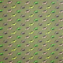 Katoen tricot met uilmotief