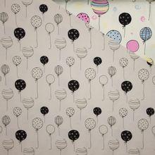 Kleur veranderende tricot met ballonmotief