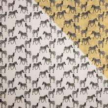 Kleur veranderende tricot met zebra motief