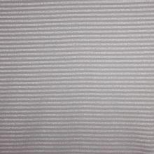 Grijze katoentricot met zilver strepen