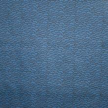 Licht elastische katoen met blauw-zwart motief