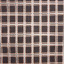 Bruine tricot met roze ruiten