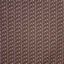 Licht elastische zwarte katoen met rood-bruine geometrische figuren