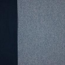 softshell blauw /wit gemeleerd