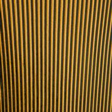 Fluwelen Plissé in zwart en geel