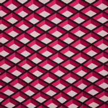 Katoenen breitje in roze tinten met geometrisch motief van Hamburger Liebe
