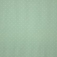 Muntgroene tricot met witte bolletjes