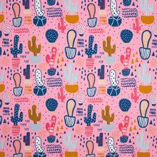 Roze tricot met cactussen motief