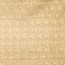 Italiaans jacquard met gouden en beige abstract motief