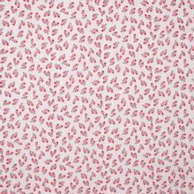 Witte rekbare polyester met rode balletschoentjes