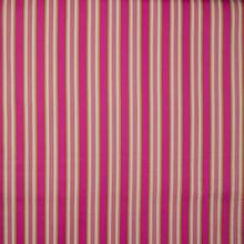 Gestreepte gabardine katoen in fuchsia, roze, wit en limoen van 'Hamburger Liebe'
