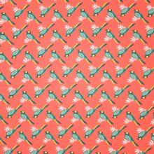 Oranje tricot met vogel motief