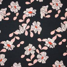 Zwarte french terry met bloemen motief van Cherry Design