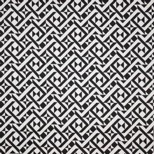 Gesatineerde rekbare katoen met geometrisch patroon in wit en zwart