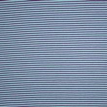 Tricot met lichtblauwe en paarse strepen