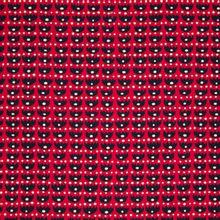 Rode organische tricot met abstracte tulpen motief van 'Lillestoff'