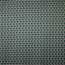 Gesatineerde stretch polyester met geometrisch motief